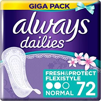 Always Dailies Large Scented Extra 72'S