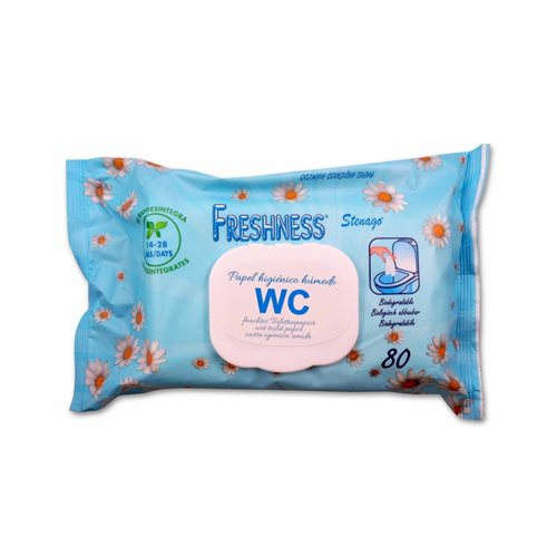 Freshness Wet Toilet Paper 80 Pop-Up
