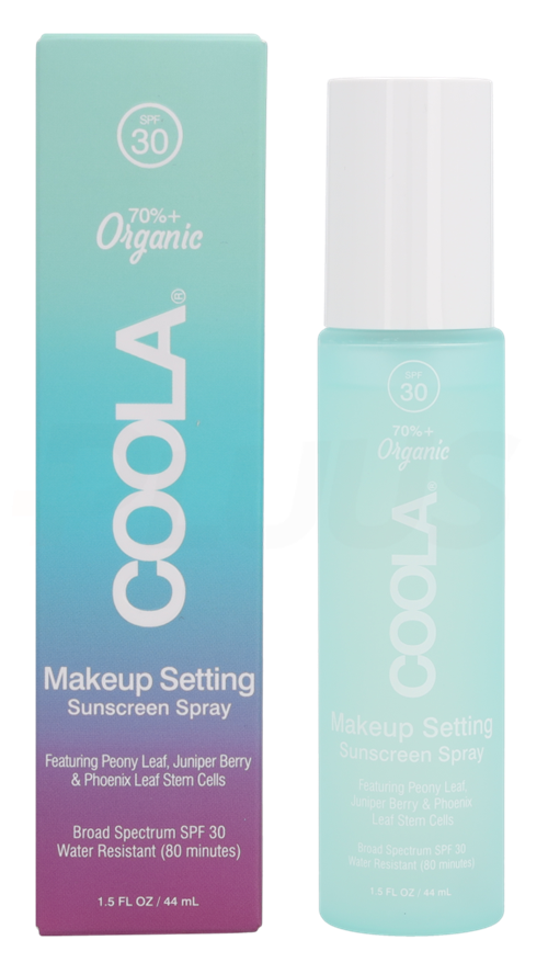 Coola Face MakeupSetting Spray SPF30 44ml Waterresistent 80min - With Hyaluronic Acid