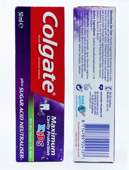 Colgate Toothpaste Max Cavity Kids 3+Years 50ml