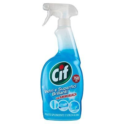 Cif clean and brightness spray 750ml Crystals and shiny surfaces ammonia