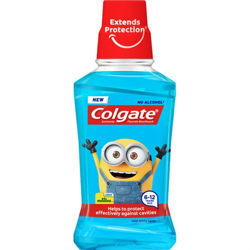 Colgate Mouthwash 250 ml Minions Soft Mint