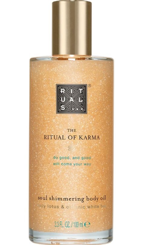 Rituals Karma Soul Shimmering Body Oil 100ml Holy Lotus & Organic White Tea