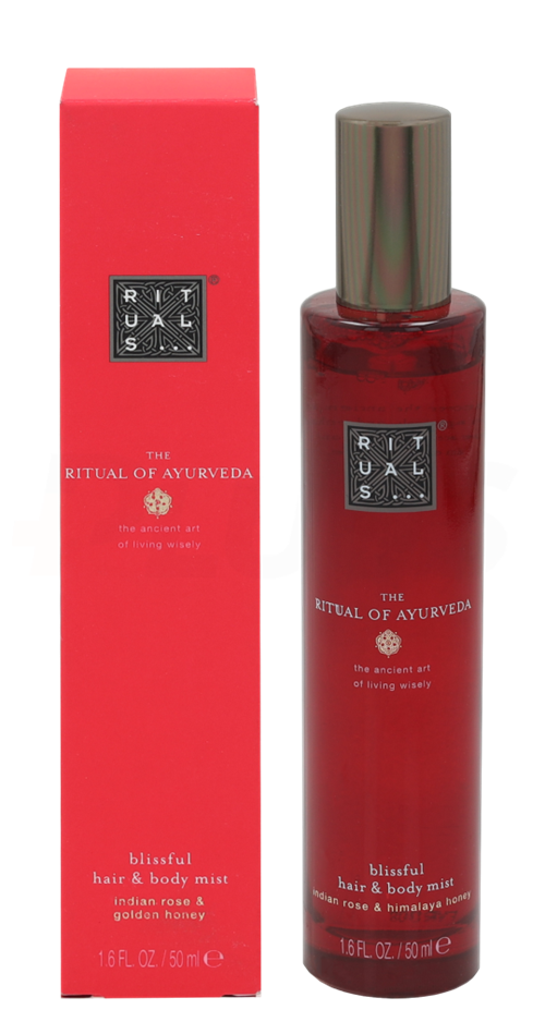 Rituals Ayurveda Blissful Hair & Body Mist 50ml Indian Rose & Golden Honey