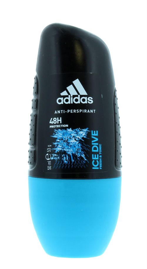 Adidas 50ml Roll On Anti Perspirant For Men Ice Dive