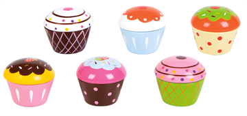 Small Wood - Cupcakes (6 stk)
