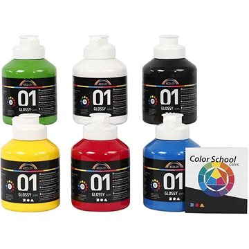 A-Color - Akrylmaling - Blank - (6 x 500 ml)
