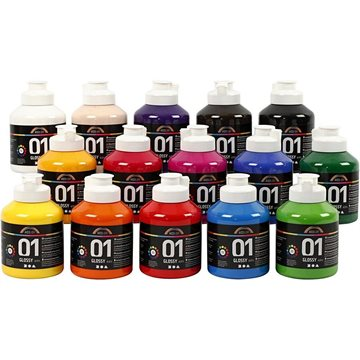 A-Color - Akrylmaling - Blank - (15 x 500 ml)
