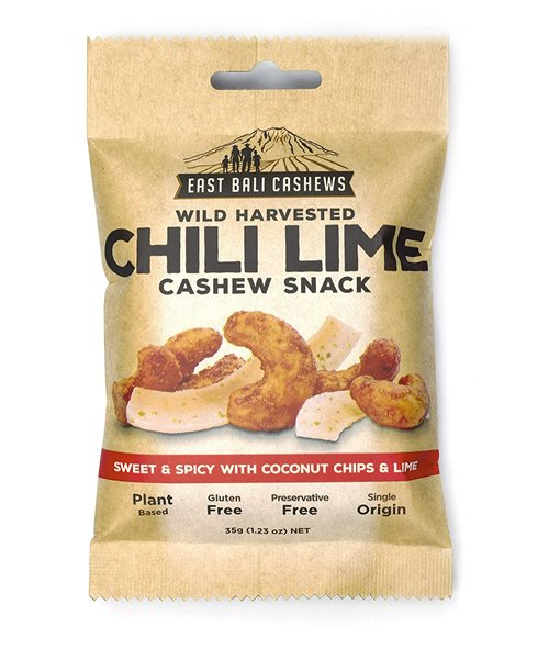 East Bali Cashews Chili Lime Cashew Snack 35 g