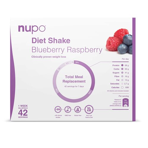 Nupo Diet Value Pack Blueberry Raspberry 1,344 kg