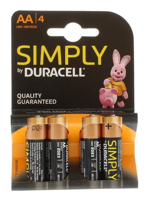 Duracell AA Simply 4'