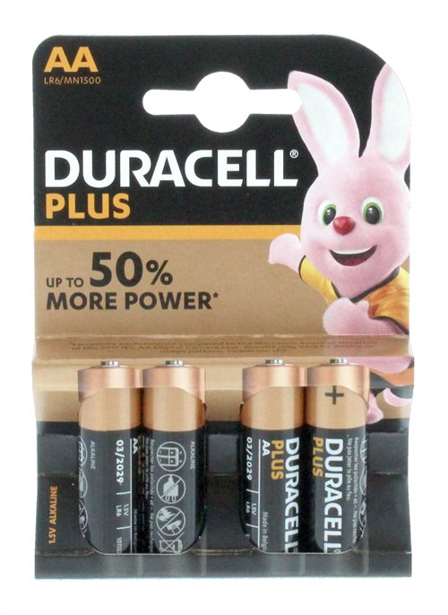 Duracell AA Plus Power 4'