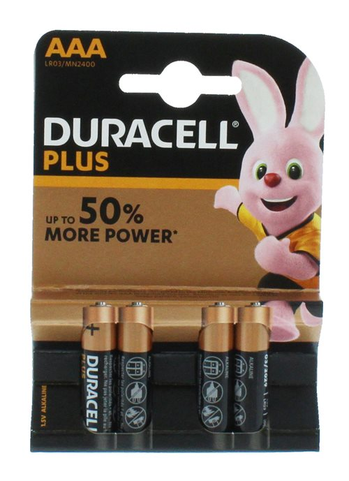 Duracell AAa Plus Power 4'