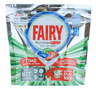 Fairy Platinum All In One Dishwasher Tabs 14'