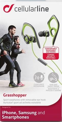 Sports - Earplugs til Smartphone, GRØN