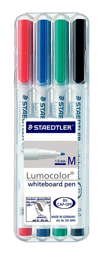 Staedtler Lumocolor 301 Whiteboardmarkere Tynd 1,0 Mm 4 Ass.