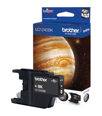 Brother LC1240BK Sort Blækpatron, 600 sider