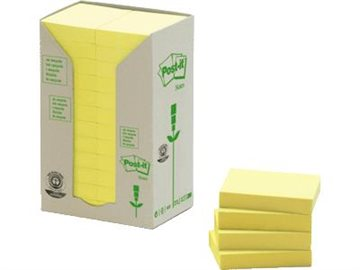 Post-It Blok 653 Genbrugspapir 38 X 51 Mm. (24)