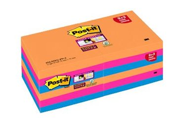 Post-It Blok 654 76X76Mm. Ass. Farver Valuepack 9+3 Blk