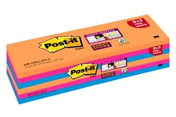 Post-It Blok 655 76X127Mm. Ass. Farver Valuepack 9+3 Blk