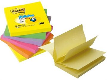 Post-It Blokke Z-Fold R330Nr Pk. A 6 Blk. Ass. Neonfarver