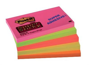 Post-It Blok 655-Sn(76X127Mm) Super Sticky (5) Neonfarver