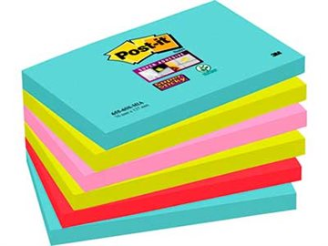 Post-It Blokke 3M 76X127 Mm Super Sticky Ass. Miami