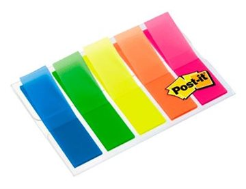 Post-It Indexfaner 3M 5 Farver 54 Mm Transparente