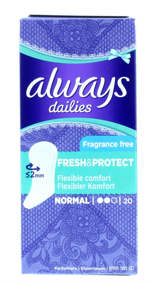 Always Dailies Fresh&Protect Liners 20'S