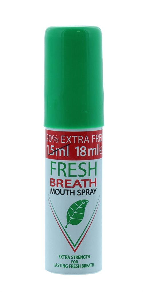 Fresh Breath 15ml+20% Ef Mouth Spray P/Mint