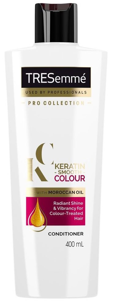 Tresemme 400ml Conditioner Keratin Smooth With Moroccan Oil For Colour Treated Hair