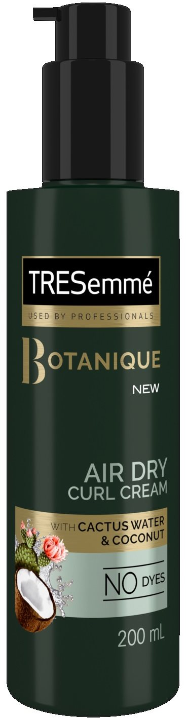 Tresemme 200ml X6 Curl Cream Botanique Air Dry With Cactus Water And Coconut