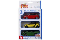 BBurago Blister Packing Metal Cars 1:43 3 Ass.