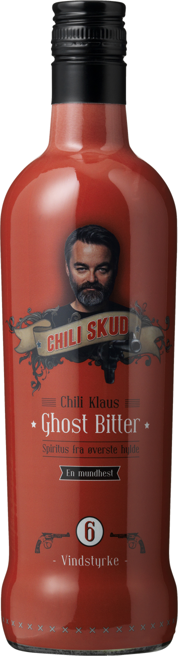 Chili Klaus Ghost Bitter Chili Skud Vindstyrke 6 20% 70 cl.