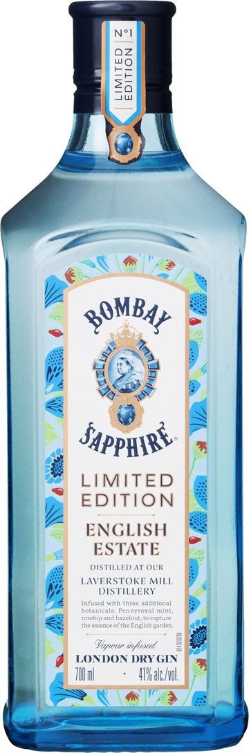 Bombay Sapphire English Estate Gin 41% 70 cl.