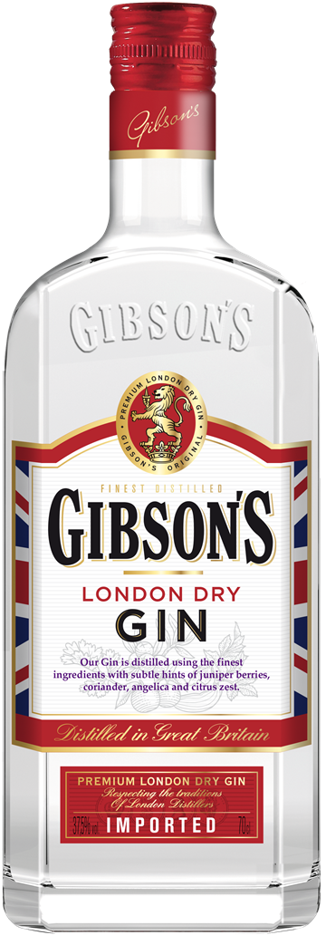 Gibsons London Dry Gin 37,5% 70 cl.