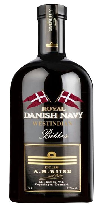 A.H. Riise Royal Danish Navy Westindian Bitter 32% 50 cl.