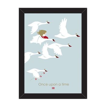 Plakat i ramme, H 21cm, B 14,8cm, D 1,5cm, Once upon a time