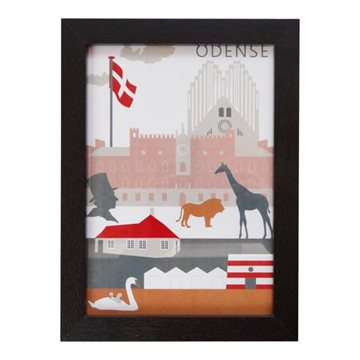 Plakat i ramme, H 29,6cm, B 21cm, D 1,5cm, City Moments