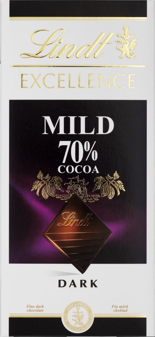 Lindt Excellence Mild 70% Cocoa 100 g