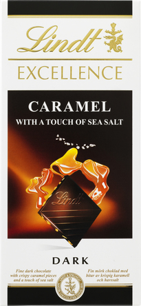Lindt Excellence Caramel with a touch of sea salt 100 g