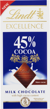 Lindt Excellence 45% Cocoa milk chocolate 80 g