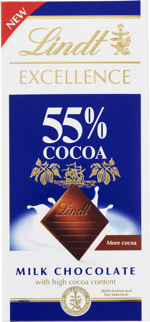 Lindt Excellence 55% Cocoa milk chocolate 80 g