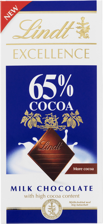 Lindt Excellence 65% Cocoa milk chocolate 80 g