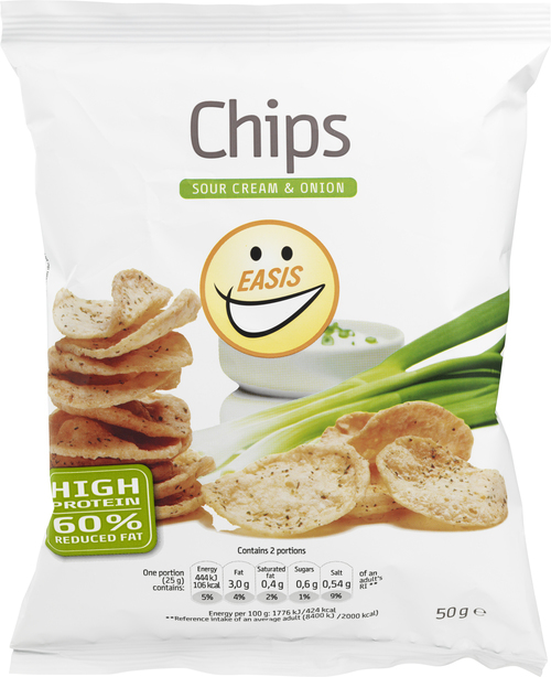 EASIS Chips Sour Cream & Onion 50 g