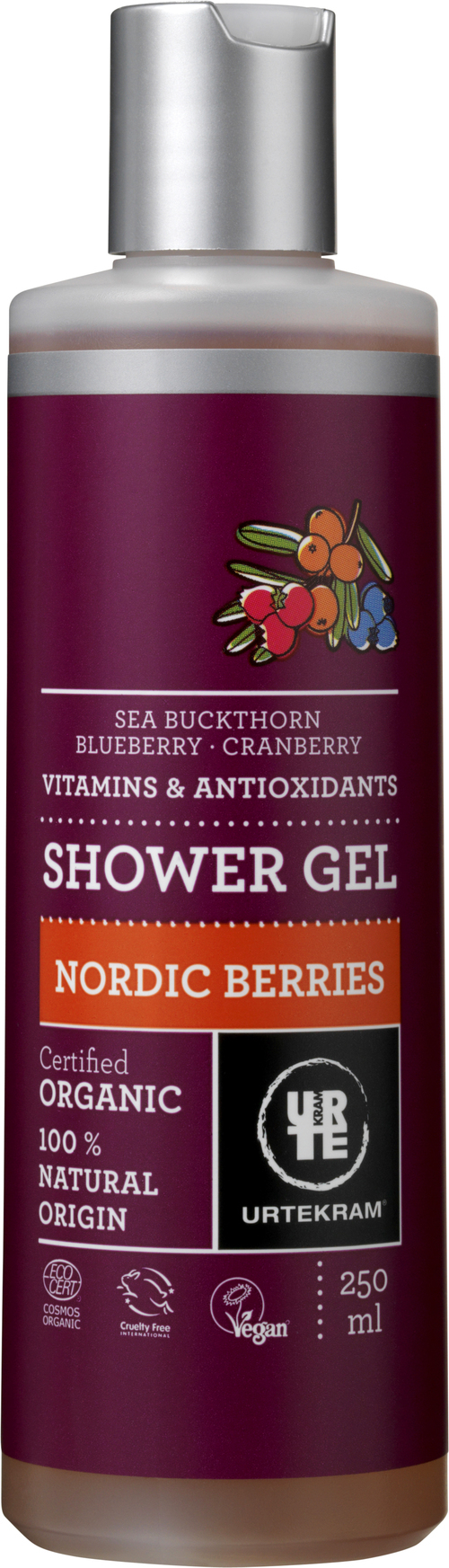 URTEKRAM Nordic Berries Shower Gel øko 0,25 l
