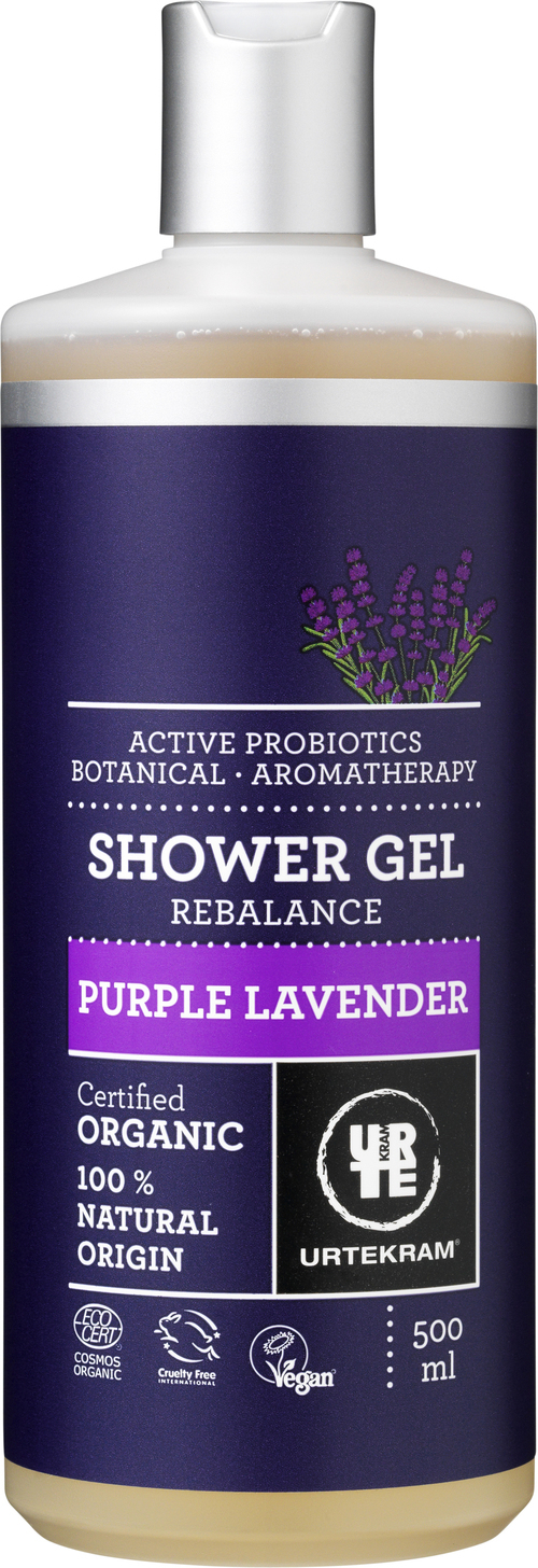 URTEKRAM Purple Lavender Shower gel 0,5 l