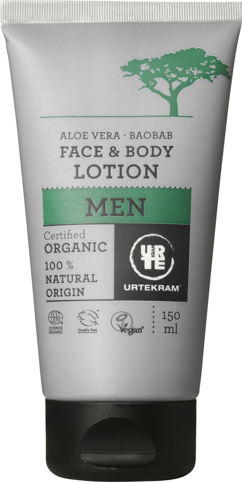URTEKRAM Men Face & Body lotion øko 0,15 l