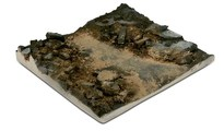 WITTMAX Scenics Diorama Bases 14x14 Rubble Street Section