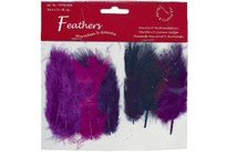 HOBBY2YOU Fjer marabou mix 18stk lilla nuancer